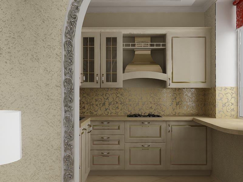 Зал-кухня студия 001