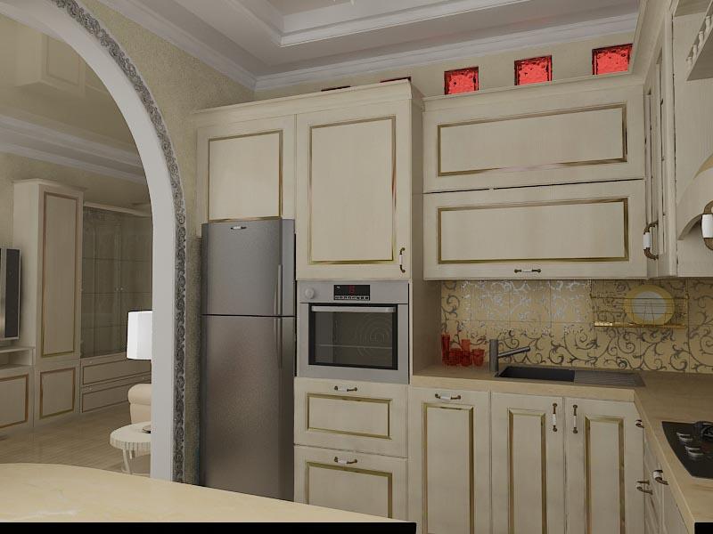Зал-кухня студия 002