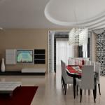 Зал-кухня студия Ар-деко Стол
