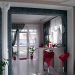 Зал-кухня студия Ар-деко Кухня